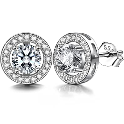 J.SHINE 925 Sterling Silver Dangle Drop Earrings Women With 3A 6MM Cubic Zirconia Round Button 983CexII