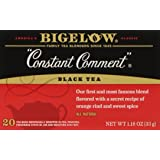 Bigelow Constant Comment Tea 20 Bags (Pack of 6), Spiced Premium Black Tea with Orange Peel, Antioxidant-Rich Full Caffeine Black Tea in Foil-Wrapped Bags