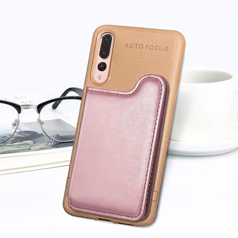 Yobby Coque pour Huawei P30 Pro,Ultra Slim PU Cuir Noir Housse /à Magn/étique Rabat Portefeuille /Étui avec Porte Carte Arriere,TPU Bumper Antichoc Stand Protection