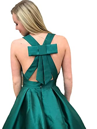 Graceprom Womens Green V Neck Prom Dress 2018 Ball Gown Evening Dress at Amazon Womens Clothing store: