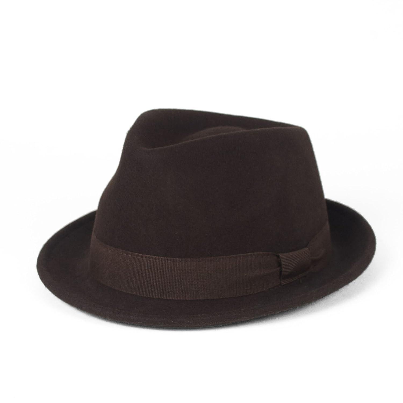 Elegant Wool Trilby Hat Waterproof & Crushable, Handmade in Italy Hat To Socks