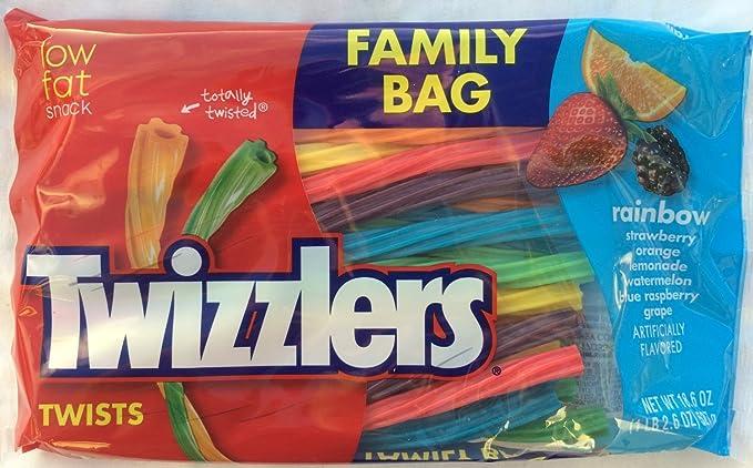 Twizzlers Rainbow frutas giros familia bolsa almuerzo 18,6 oz (527g)