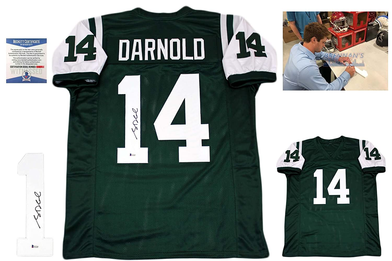 7a023f36e34 Sam Darnold Autographed SIGNED Jersey - Beckett Authentic at Amazon's  Sports Collectibles Store