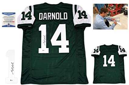 reputable site 381bb a1932 Sam Darnold Autographed SIGNED Jersey - Beckett Authentic at ...
