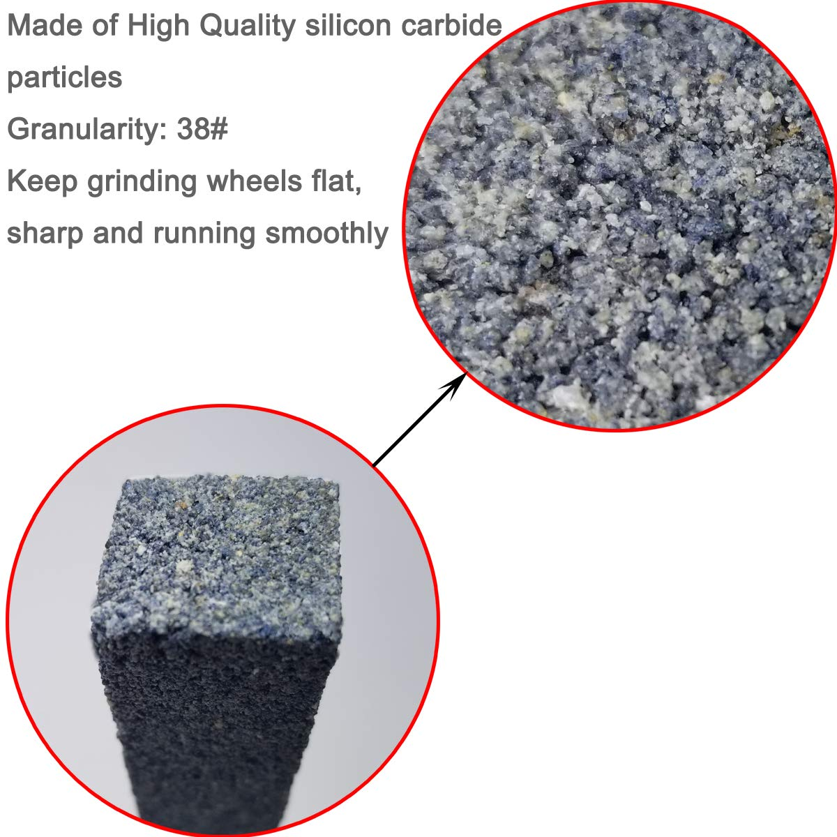 Great for Cleaning M-jump Bench Grinder 8x1x1inch Dressing Stick Made of Medium Grit Sharp Reshaping Grinding Wheels to Max Grinding Performance Extra Durable Silicon Carbide Abrasive Opening