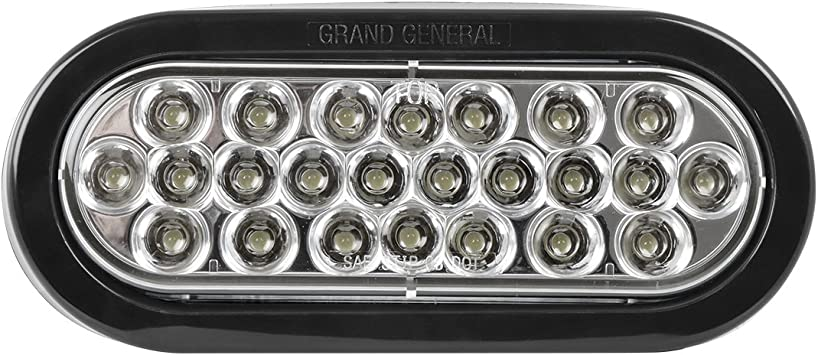 "Grand General 78221BP Pearl 6/"" Amber Oval LED Park//Turn//Clearance Light Includes Light, Grommet /& Pigtail for Trucks, Trailers, RVs, Utility Vehicles"