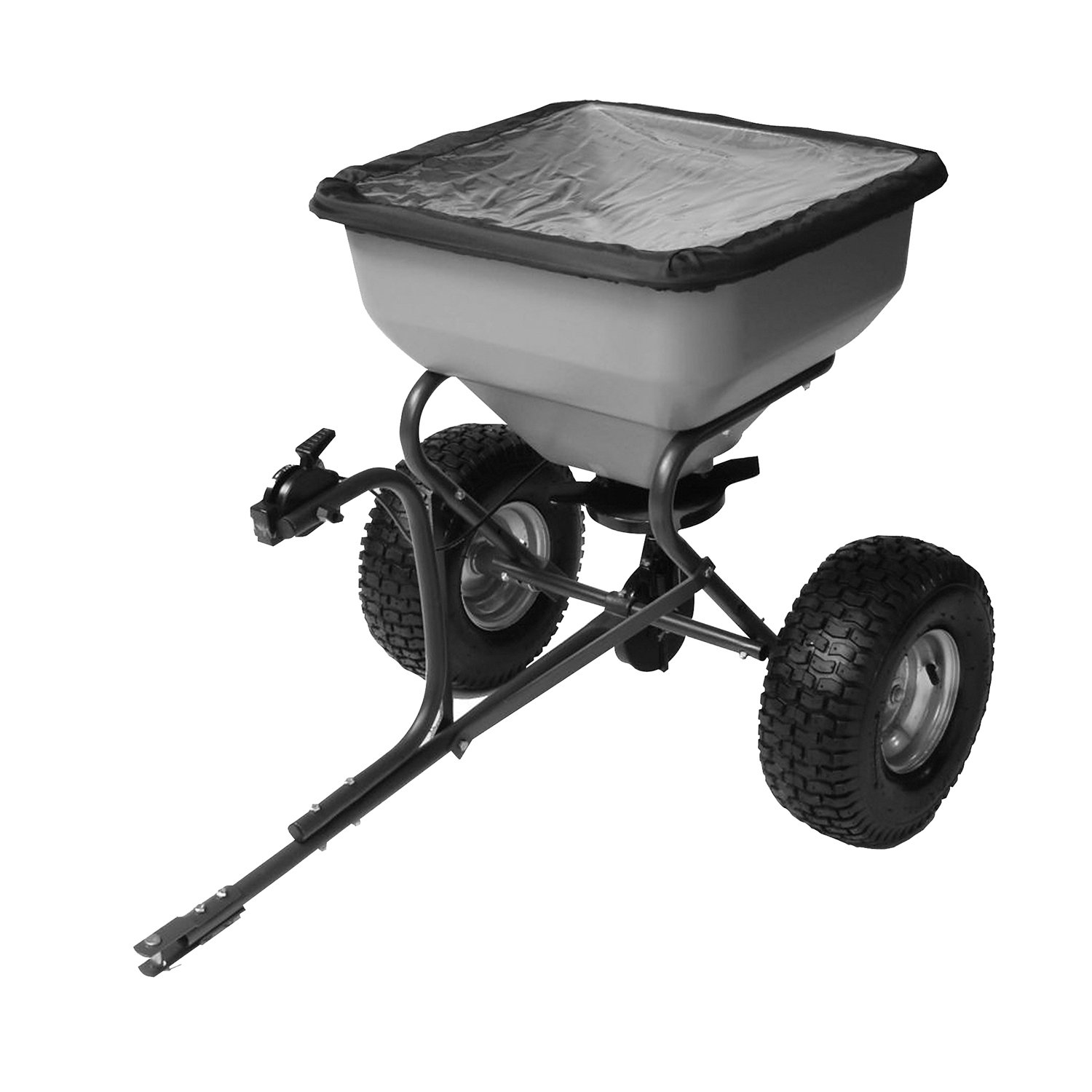 Precision Products TBS6000RDOS 6-Series 130-Pound Tow Behind Broadcast Spreader with Rain Cover