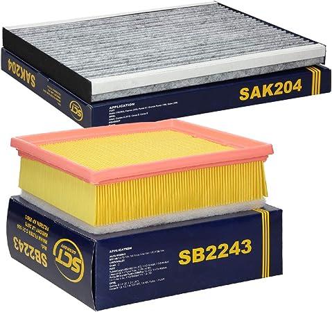 Sct Germany Inspektionspaket Wartungspaket Filterset 1 X Luftfilter 1 X Innenraumfilter Mit Aktivkohle Auto