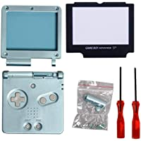 GBA SP Shell, Timorn Full Parts Housing Shell Pack Replacement for GBA SP Gameboy Advance SP (Light Blue Pack)