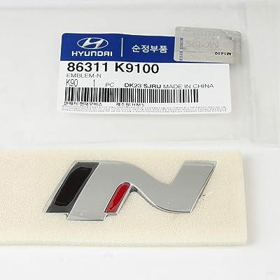 Genuine OEM Hyundai N Logo Trunk Emblem Badge For 2020 Hyundai Veloster N (86311 K9100): Automotive