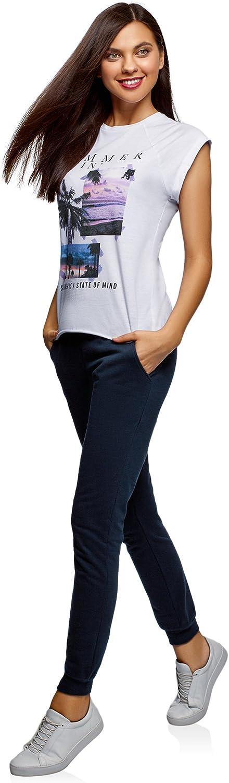 oodji Ultra Donna Pantaloni Sportivi in Maglia