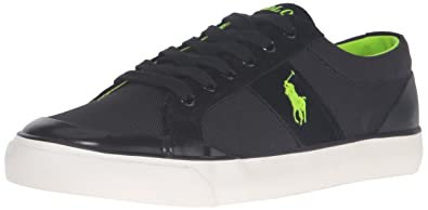 Polo Ralph Lauren Men's Ian Fashion Sneaker, Black, ...