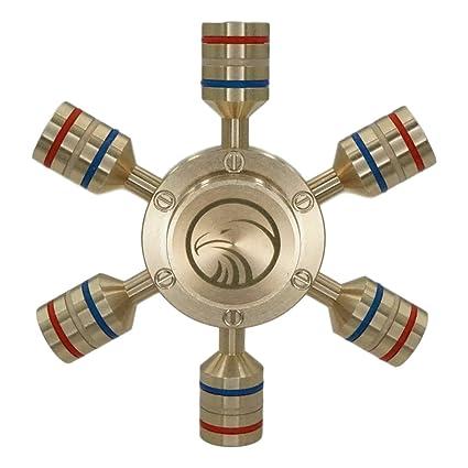 VALTCAN FREEDOM 6 Peg Fidget Spinner Hand Gyro GOLD