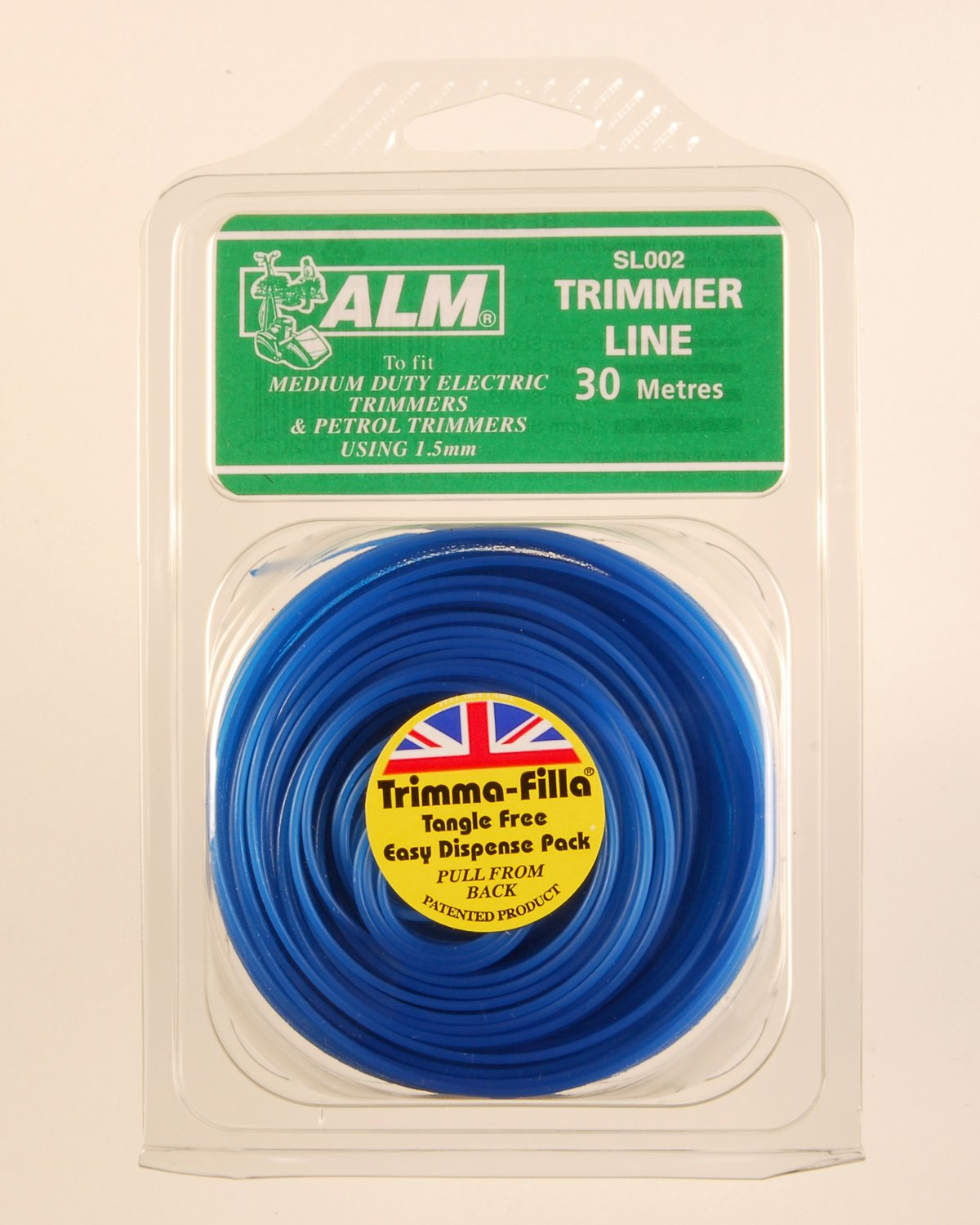 Trimmer Line: 1.5mm 30m To fit all makes of medium duty electric and light petrol trimmers using 1.5mm trimmer line contains 30 metres Blue