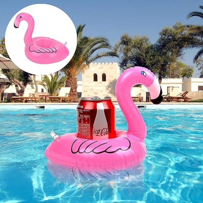 Amazon.com: Flamingo - Soporte hinchable para bebidas, 14 ...