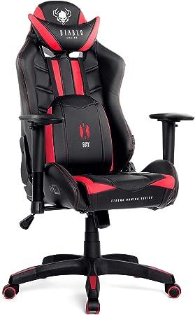 Diablo X-Ray Gaming Chaise Fauteuil Gamer Accoudoirs 2D Design Ergonomique