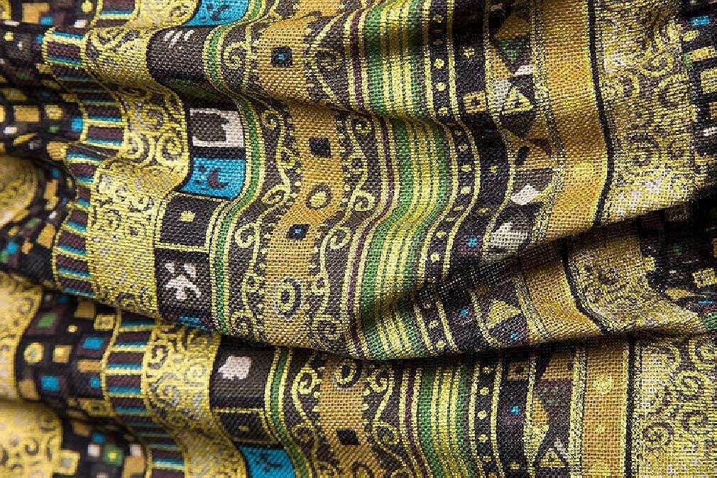 Mfasica Mens Cotton Linen Plus Size Short-Sleeve Ethnic Style Shirt