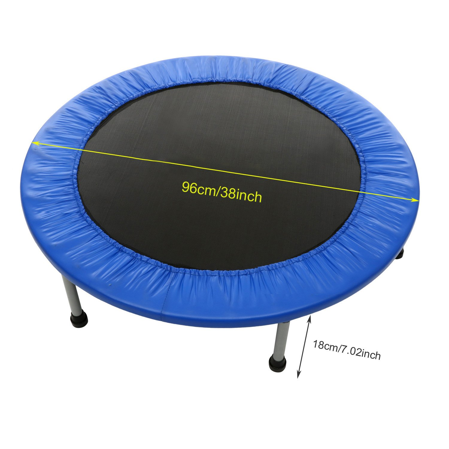 shaofu Rebounders Mini Trampolines Max Load 220lbs Rebounder Fun Trampolines with Padded Frame Cover US Stock