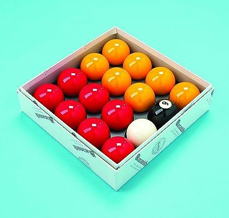 Conjunto de bolas de billar de 2 pulgadas, acabado de Aramith, color rojo y amarillo (con bola blanca de 7/8 pulgadas): Amazon.es: Deportes y aire libre