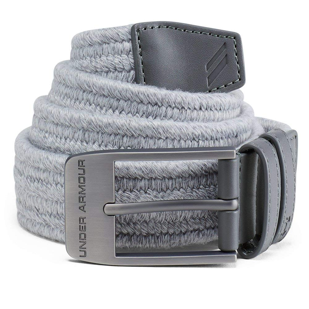 Under Armour Men's Braided Belt 2.0, Overcast Gray (941)/Rhino Gray, 40 by Under Armour