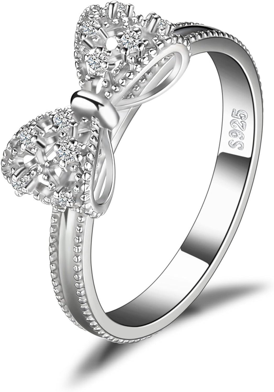JewelryPalace Arco Aniversario de Circonia Cubic Zirconia Anillo Plata de ley 925