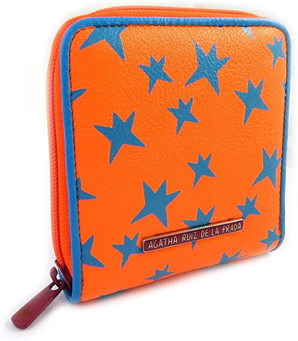 Amazon.com: Wallet zipped Agatha Ruiz De La Prada blue orange.: Clothing
