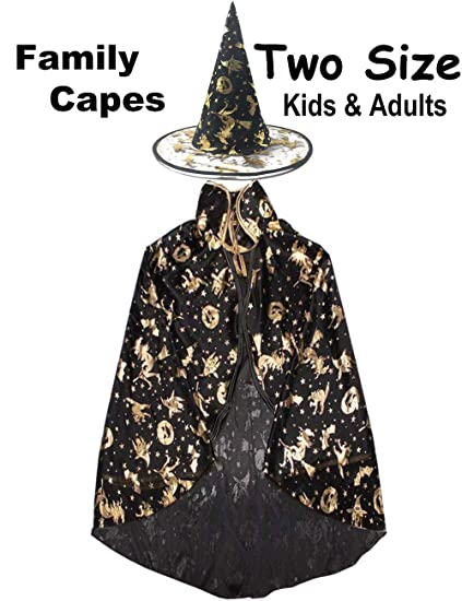Amazon Halloween Party Cape Costumes Kids Adult Witch Wizard