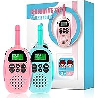 Ukuu Walkie Talkie para Niños Bateria USB Recargable 16 Canales Función VOX Rango de 3KM con Linterna, Navidad Regalos…