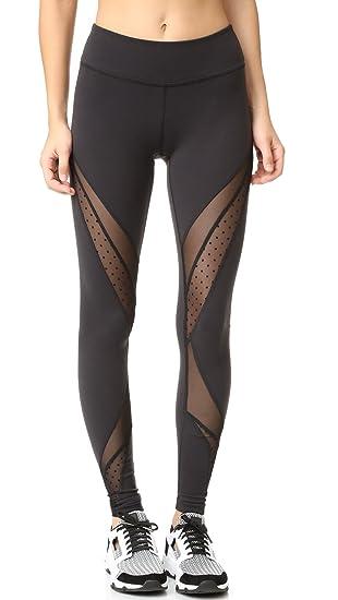 4968d05a0e80d Beyond Yoga Women's Polka Dot Mesh Converged Leggings, Black, X-Small