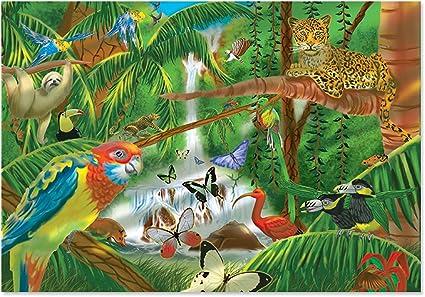 Melissa Doug Rainforest Jigsaw Puzzle 200 Piece