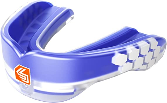 Shock Doctor Gel Max Convertible Strap Strapless YOUTH Blue Mouth Guard