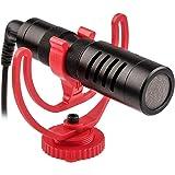 VILTROX ビデオ録音用マイク 一眼レフマイク カメラマイク 全指向性集音3.5mmデジタルビデオ録音用マイク ウインドシールド付き