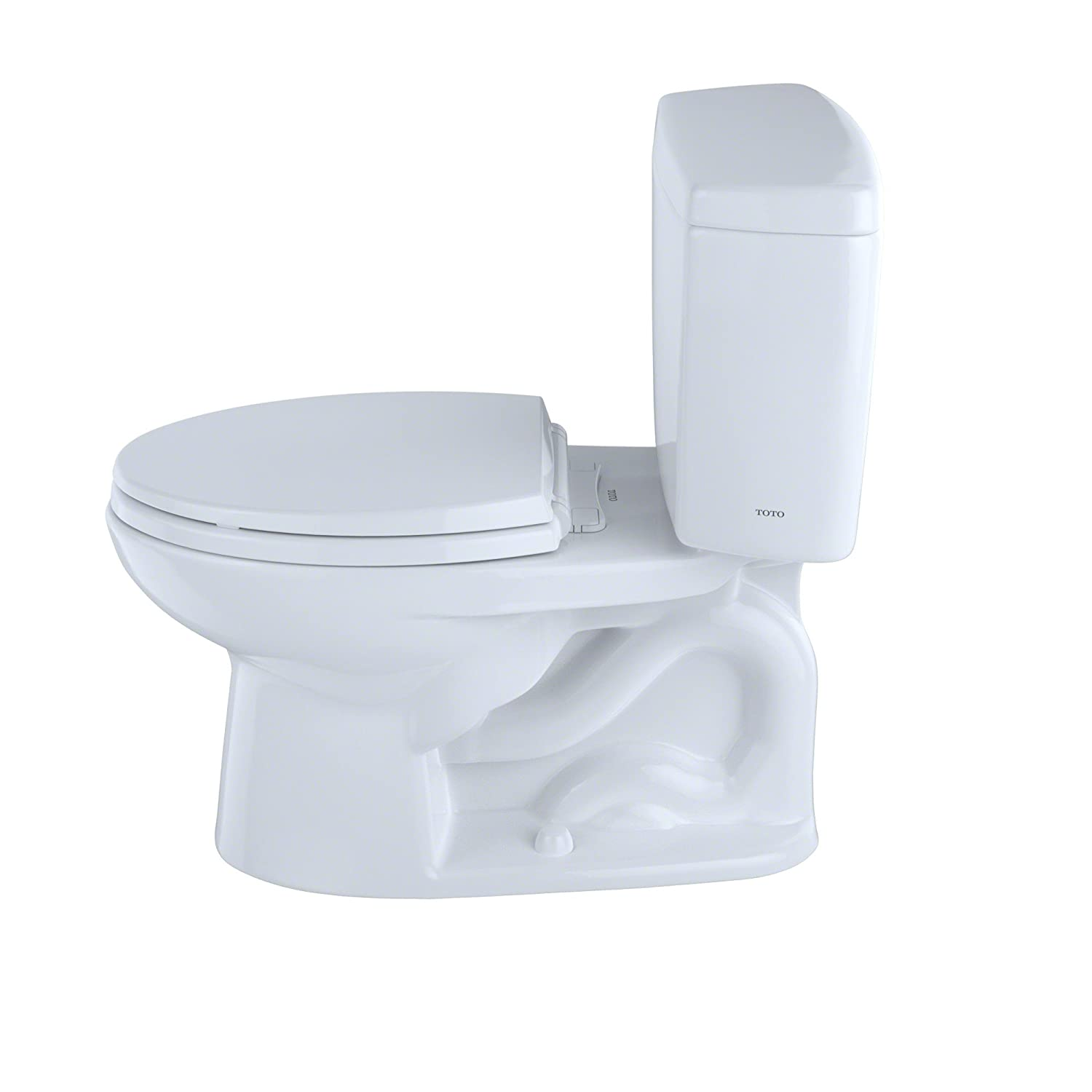 Toto CST744SF.10#01 Drake Two-Piece Toilet, 1.6-GPF Cotton, Two ...