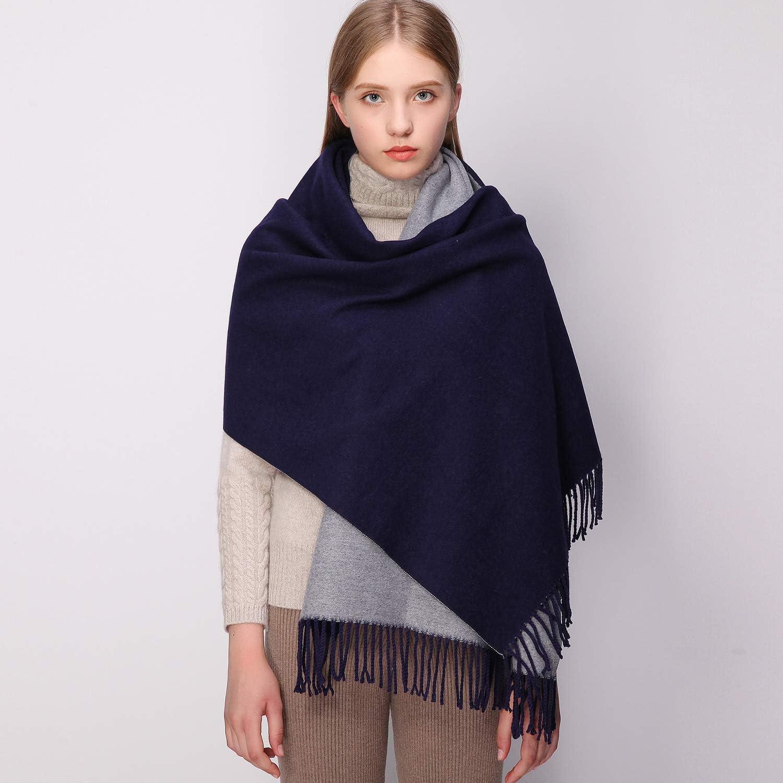 Cachemire écharpe Gris Avec Rose Bordure Châle Wrap Handmade Natural cashmere