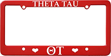 Red Officially Licensed Theta Tau License Plate Frame