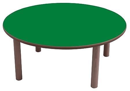 mobeduc Mesa Redonda de los niños, Madera, Verde Oscuro, 120 x 59 ...