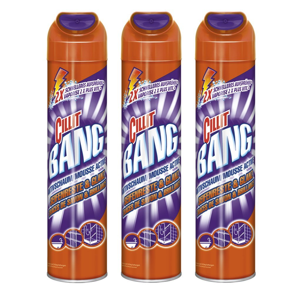 Cillit Bang Bathroom Cleaner 3 x 600ml Pack of 3 39812
