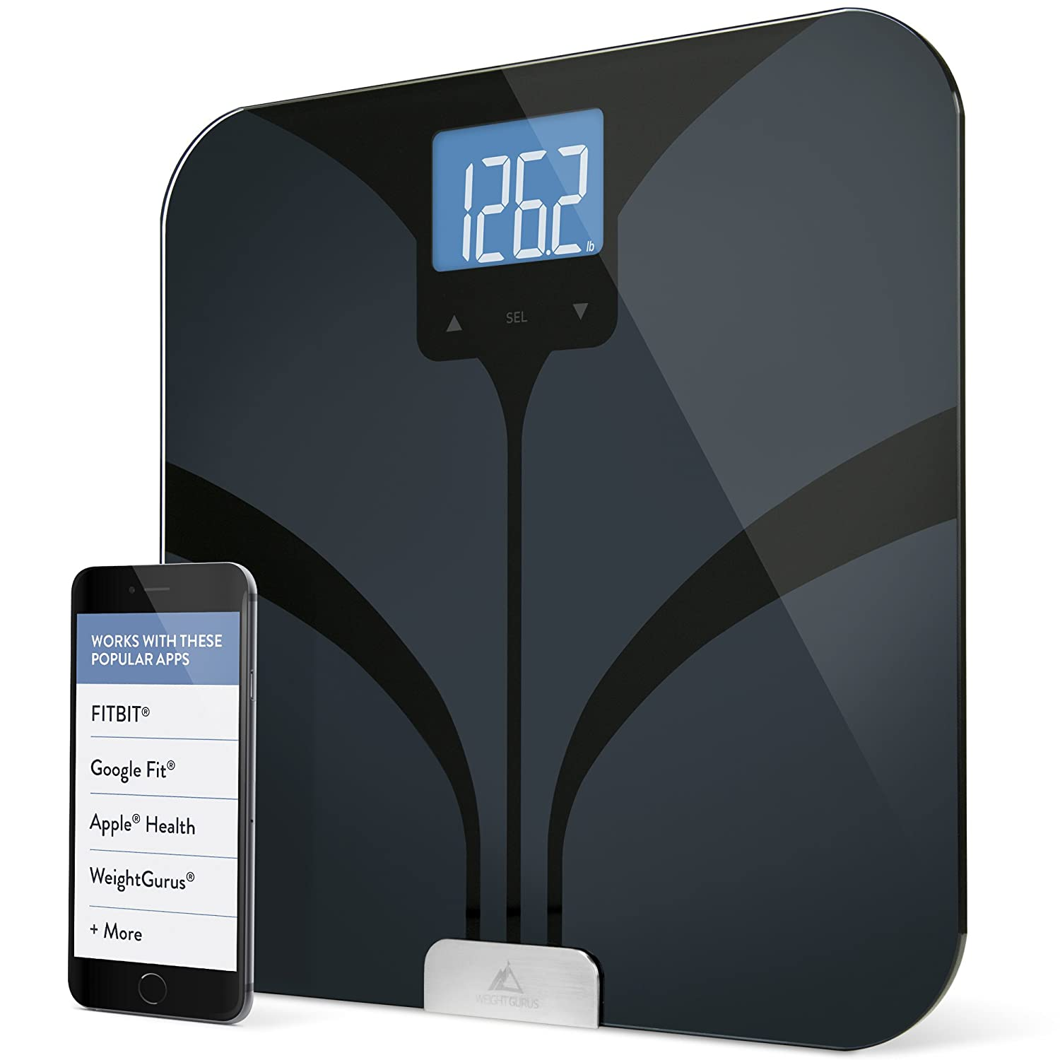 Greater Goods Smart Connected Body Fat Bathroom Scale