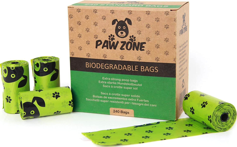 solides 16 Animalerie Paw pour biodégradables grands déjections sacs canines 240 étanches et Zone rouleaux qwFO8PX