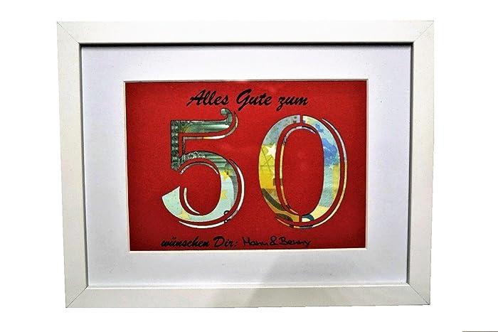 Geldgeschenk Zum 50 Geburtstag Farbe Wahlbar Geldverpackung
