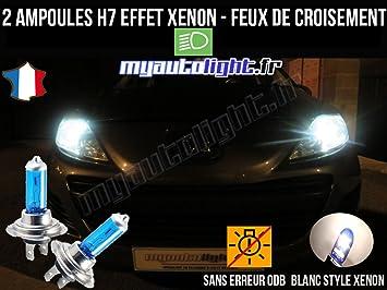 MyAutoLight - Pack de bombillas de luces de cruce para Peugeot 207 (H7 Xenon), color blanco: Amazon.es: Coche y moto