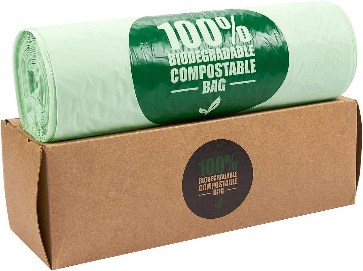 Juvale Compostable Trash Bags, 3 Gallon Capacity (Green, 100 Pack)