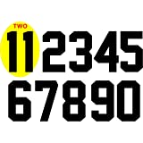 """Amazon.com: DIY Iron-On 8"""" Jersey Number Pack w/15 Numbers"""