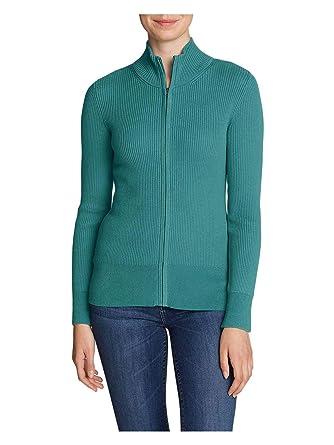Eddie Bauer Women s Medina Zip Cardigan Sweater at Amazon Women s Clothing  store  ee01677c1