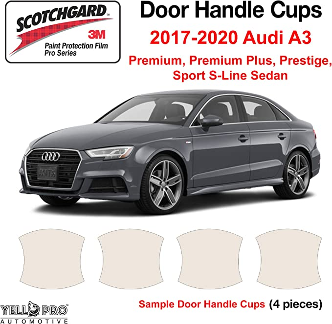 Set of 4 Custom Fit Automotive Self Healing Door Handle Door Cup Clear Paint Protection Film for 2014 2015 2016 2017 2018 BMW X5 sDrive35i xDrive35i xDrive50i SUV