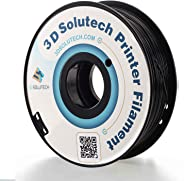 3D Solutech Real Black 3D Printer PLA Filament 1.75MM Filament, Dimensional Accuracy +/- 0.03 mm, 2.2 LBS (1.0KG) - PLA175RBL