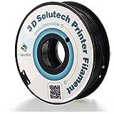 3D Solutech - PETG175BLK Real Black 1.75mm PETG 3D Printer Filament 2.2 LBS (1.0KG)