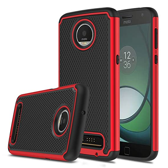 newest caf25 902ea Moto Z3 Case, Moto Z3 Play Case, Elegant Choise Hybrid Dual Layer Shock  Absorbing Anti-Scratch Rugged Bumper Armor Defender Protective Case for ...