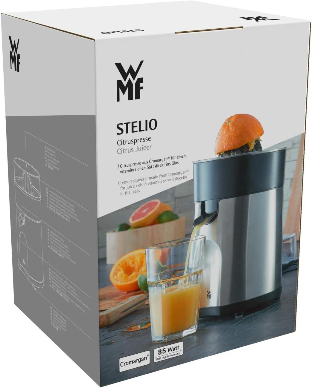 WMF STELIO Citruspresse elektrisch 85 W 2 Presskegel Saftauslauf direkt ins Glas