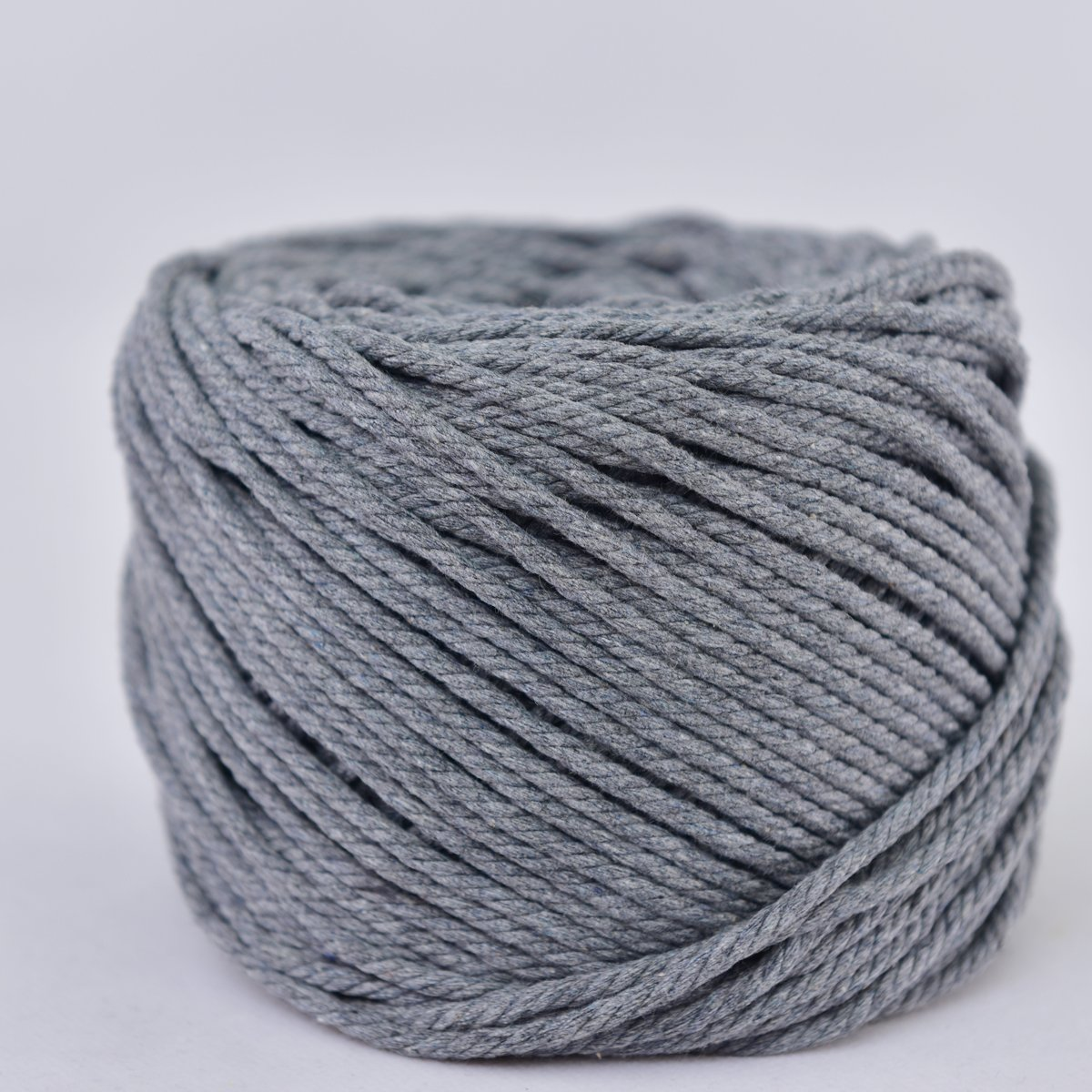 Gray, 4mm x 100m Handmade Decorations Natural Cotton Bohemia Macrame DIY Wall Hanging Plant Hanger Craft Making Knitting Cord Rope Gray Color Macram/é Cord About 109 yd